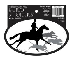 Euro Horse Oval Sticker: Fox Hunter Euro Sticker - Item # ES FHwF