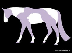 Sticker: Purple Tobiano - Item # WS P Tobiano