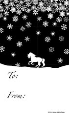 Gift Tag: Horse with Snowflakes - Item # GT Snow