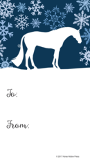 Gift Tag: Blue Snow Scene with Conformation Hunter - Item # GT X 205