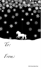 Gift Tags in BULK: Cantering Horse in Snow - Item # GT X Snow BULK