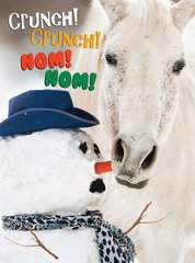 Christmas Card: Crunch, Crunch, Nom, Nom!  - Item# GC X Crunch