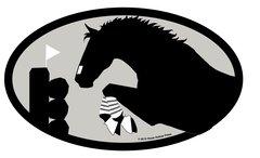 Euro Horse Oval Sticker: Eventer Euro Sticker - Item # ES Eventer