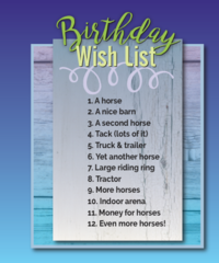 Birthday Card: Birthday Wish List - Item # GC B Wish List