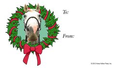 Gift Tag: Horse in Wreath - Item # GT Wreath