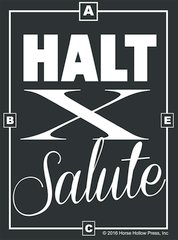 Clear Vinyl Window Sticker: Halt X Salute! Dressage Window Sticker - Item # D Halt