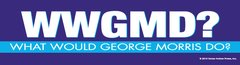 Bumper Sticker: WWGMD? What would George Morris do? - Item # B WWGMD