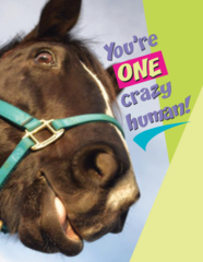 Birthday Card: You're one crazy human! - Item # GC Crazy