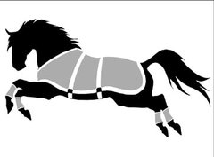 Sticker: Blanketed Horse - Item # WS Blanket