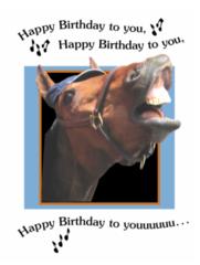 Birthday Card: Happy Birthday to you, Happy Birthday to you! - Item # GC Sing