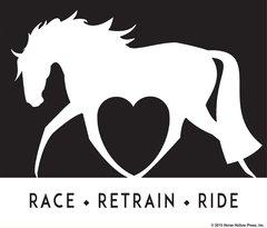 Clear Vinyl Window Sticker: Race, Retrain, Ride - Item # D Race