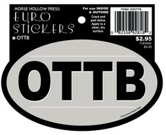 Euro Oval Sticker: OTTB - Item # ES OTTB