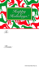 Gift Tags in BULK: Red & Green Horses - Item # GT X R&G BULK