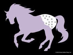 Sticker: Purple Appalossa - Item # WS P Appaloosa