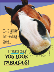 Birthday Card: It's your birthday and...I must say you look fabulous! - Item # GC Fab