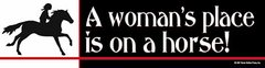 Bumper Sticker: A woman's place is... Item# B Woman