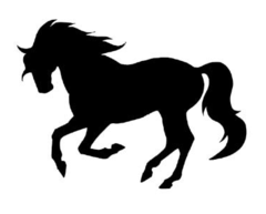 Sticker: Cantering Horse - Item # WS Cantering