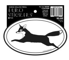 Euro Horse Oval Sticker: Fox Euro Sticker - Item # ES Fox