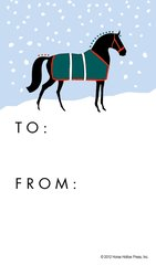 Gift Tag: Graphic horse in snow! - Item # GT Graph