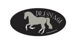 Laptop, Cell Phone & Helmet Sticker: Dressage - Item # HS Collected