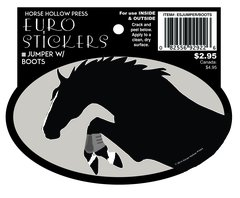 Euro Oval Sticker: Jumper with Boots - Item # ES Jumper with boots
