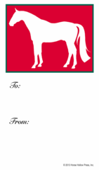 Gift Tag: Red Horse - Item # GT Red Horse