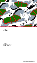 Gift Tags in BULK: Horses with Blanket - Item # GT X Blanket BULK