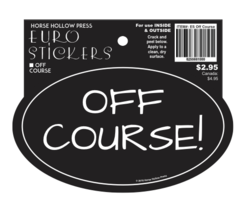 Euro Horse Oval Sticker: Off Course Euro Sticker - Item # ES Off Course