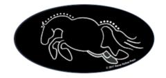 Laptop, Cell Phone & Helmet Sticker: Chubby Hunter Pony! - Item # HS Hunter