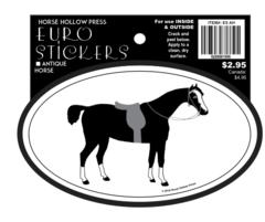 Euro Horse Oval Sticker: Antique Horse - Item # ES AH