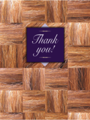 Thank You Card: Thank You!- Item # GC Mane