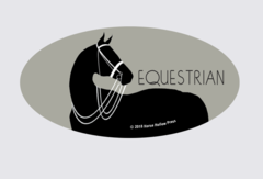 Laptop, Cell Phone & Helmet Sticker: Equestrian - Item # HS Equestrian
