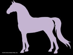 Sticker: Purple Horse - Item # WS P Horse