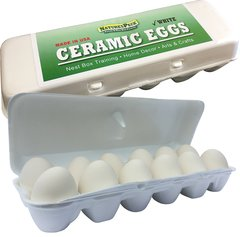 Ceramic Nest Eggs - 12 ( White only)