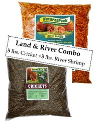 Land & River Combo 10 lbs / Crickets-5 lb + River Shrimp-5 lb
