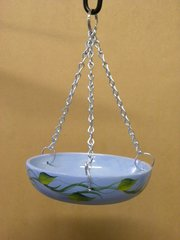 Glazed ceramic Dish feeder for wild birds