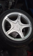 """2000 Mustang Gt 17"""" wheels with 245/45/17 tires"""