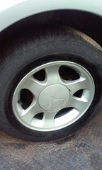 """2000 Mustang 15"""" wheels with 205/75/15 Goodyear tires"""
