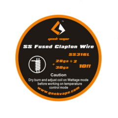 GeekVape Clapton SS316 Wire (Various) 10ft