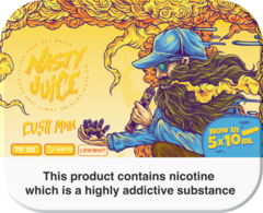 "Nasty Juice Cush Man ""Yummy Fruity"" series 50ml Multipack (5 x 10ml)"