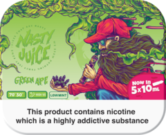 "Nasty Juice Green Ape ""Yummy Fruity"" series 50ml Multipack (5 x 10ml)"