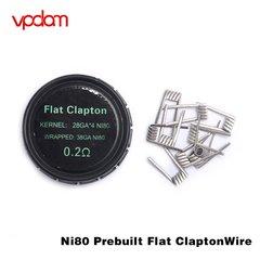 Vpdam Ni80 Prebuilt Flat Clapton Coils 0.2ohm