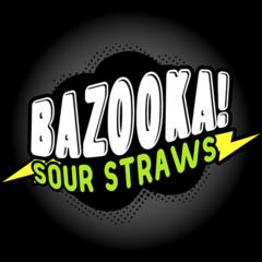 Bazooka Sour Straws 100ml Shortfill Juice Range
