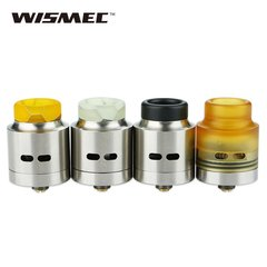 Wismec Guillotine RDA (Stainless with Black Drip Tip)