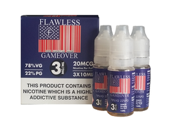 Game Over by Flawless 3 x 10ml Multipack TPD Compliant