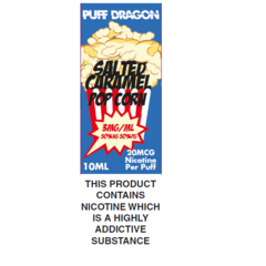 Salted Caramel Popcorn TPD Compliant by Puff Dragon - 10ml 3mg