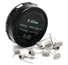 Vpdam Prebuilt S-Alien Coils SS316l 10 Pieces