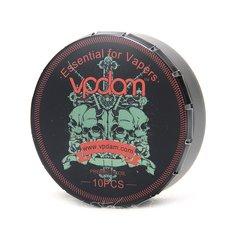 VPDAM Prebuilt Alien Clapton Coils 0.45ohm 10 Pcs