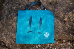 """""""The Dolphin Reusable Bag"""" #SaveTheOcean Dolphin Photos on both sides. **Small clip bag sold separately"""