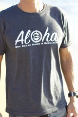 Unisex Size/Style Aloha T-Shirt One Ocean Diving & Research and Water Inspired Conservation Group supports shark conservation